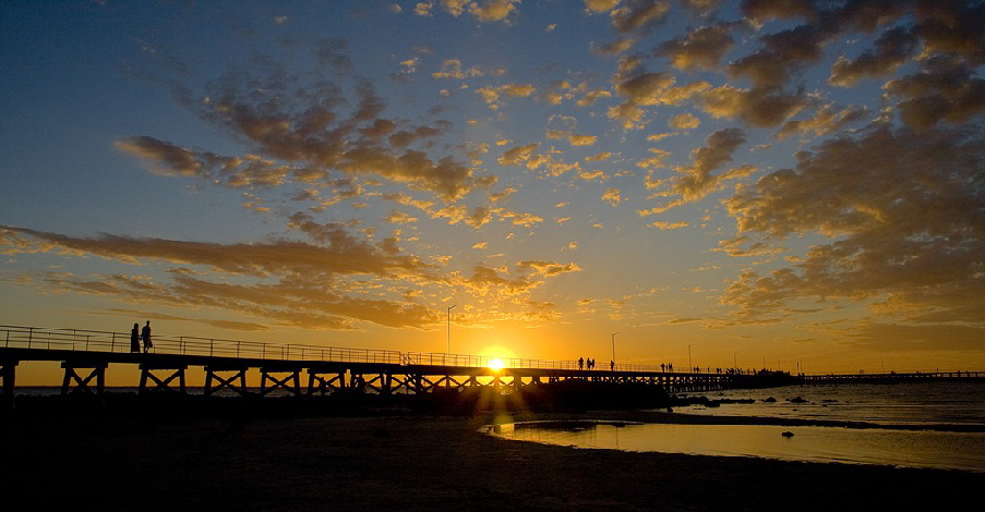 Moonta Bay jetty sunset